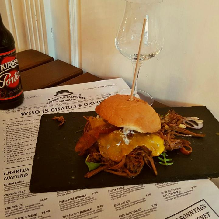 """Pulled Beef"" Charles Oxford Burger"